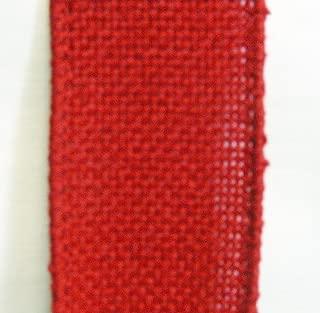 Red Wired Burlap Ribbon, #40, 25 Yard Spools