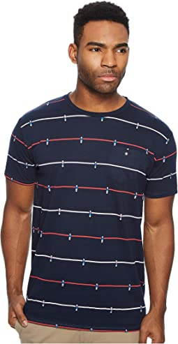 Foosball Print Fashion Crew Shirt