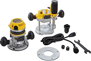 DEWALT Router Fixed/Plunge Base Kit, Variable Speed, 12-Amp, 2-1/4-HP (DW618PK)