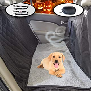 Ultimate Pet Seat Cover and Dog Hammock Features Washable Fleece Mat, Mesh Window and Metal Buckles - 5-Piece Set
