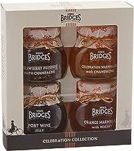 Mrs Bridges Celebration Collection Gift Box, 4 Ounce Jars (Strawberry Preserve, Port Wine Jelly, Celebration Marmalade, & Orange Marmalade with Whisky)