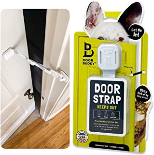 Door Buddy Adjustable Door Strap and Latch - Grey. Dog Proof Litter Box The Easy Way. No Need for Pet Gates or Interior Ca...