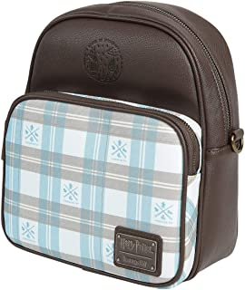Loungefly x Harry Potter Hogwarts Plaid Convertible Mini Backpack or Crossbody Bag Multicoloured Size: One Size