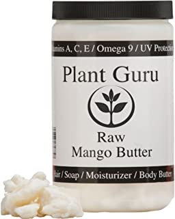 Raw Mango Butter 16 oz / 1 lb 100% Pure Natural For Skin, Face, Hair Care (HDPE Food Grade Jar)