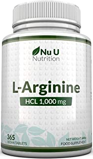 L-Arginina 4000-365 Comprimidos Vegetarianos y Veganos. Suministro Hasta Para Un Año