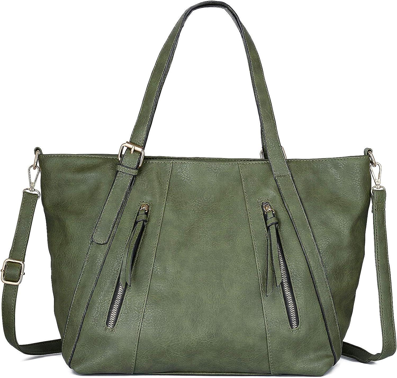 WOZEAH Women Handbags Tote Hobo Shoulder Bags PU Leather Handbags Fashion Large Capacity Bags