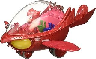 PJ Masks Vehículo Deluxe, búho Delta y buhíta, Color Rojo (Bandai 24622)
