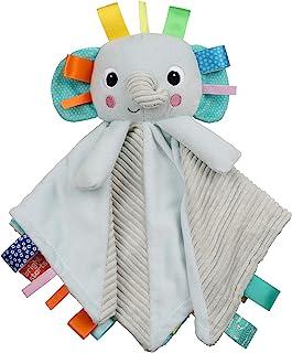 Bright Starts Cuddle 'n Tags 2-Sided Lovie Soothing Blanket, Elephant, Newborn +