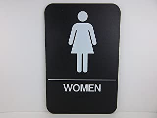 """6"""" x 9"""" Plastic, ADA Compliant, Mens Restroom Sign, with Raised White Tactile Graphic Characters, Text, and Grade 2 Braill..."""