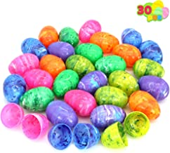 30 PCs Painted Jumbo Large Iridescent Easter Eggs for Kids Basket Stuffers Fillers, Easter Hunt Game, Toys Filling Treats ...