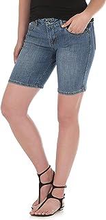 Wrangler womens Aura Instantly Slimming Mid Rise Stretch Jean Short Denim Shorts