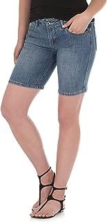 Wrangler Women's Aura Instantly Slimming Mid Rise Stretch Jean Short