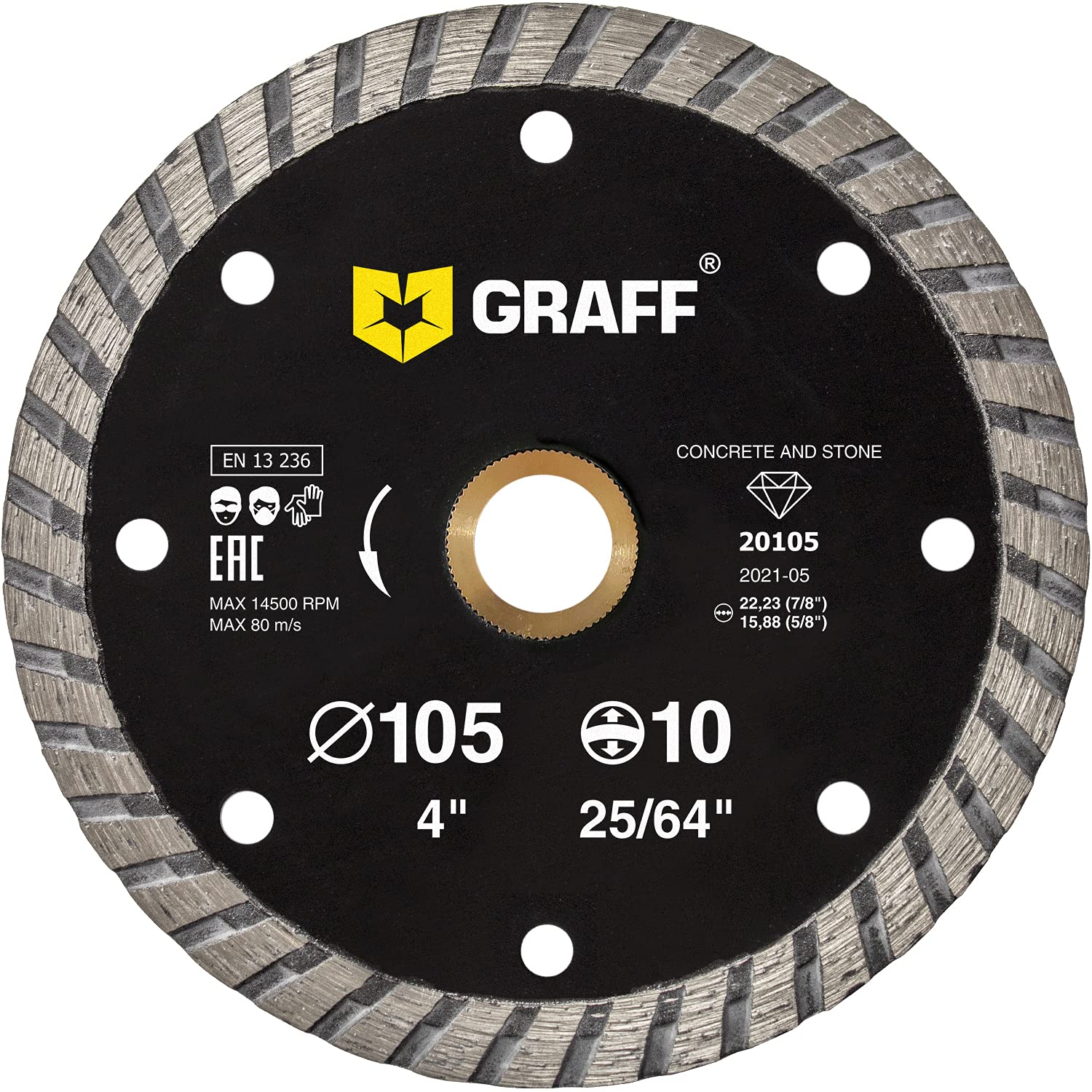 GRAFF 4 Columbus Mall Inch Cheap sale Diamond Blade for W Angle Grinder - Cutting