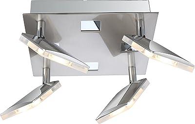 globo Kamala Plafonnier 6 W en Aluminium satiné/Nickel