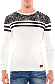 Cipo & Baxx - Jersey de Punto para Hombre, Cuello Redondo, diseño de Rayas
