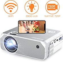 $149 » Bomaker Wi-Fi Projector, Wireless Screen Mirroring and Cast Screen TV Projector, HD Portable HDMI Projector, 3900 Lux, 1080P and 250'' Display Supported, For Android/ iSO / Laptops/ PCs/ Windows 10