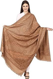 Pashtush Women's Kashmiri Shawl, Jacquard palla, Warm ande soft, Faux Pashmina Design (40 x 80 inches) - Taupe