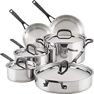 KitchenAid 5-Ply Clad Stainless Steel Cookware - Best non toxic stainless steel cookware