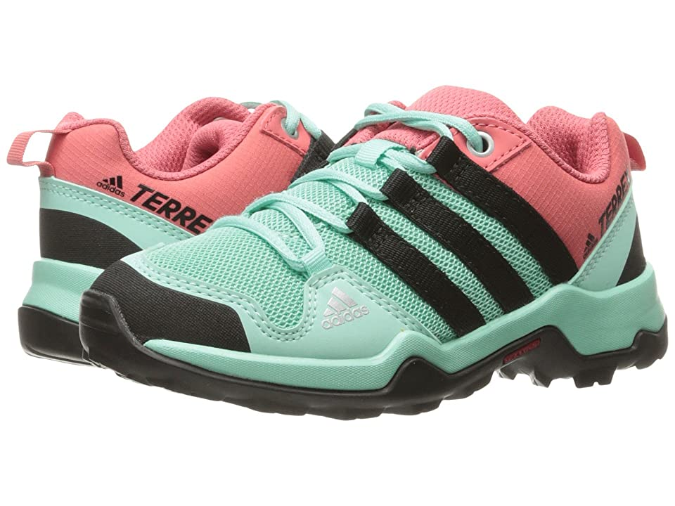 adidas Outdoor Kids Terrex AX2R (Little Kid/Big Kid) (Easy Green/Black/Tactile Pink) Girls Shoes