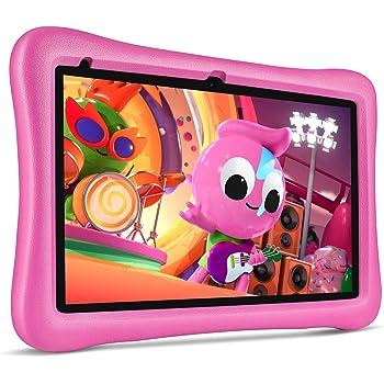 "VANKYO MatrixPad S10 Kids Tablet 10 inch, 2 GB RAM, 32 GB Storage, Quad-Core Processor, Kidoz Pre Installed, 10.1"" IPS HD Display, Android OS, WiFi Tablet, Dual Camera, GPS, FM, Pink Kid-Proof Case"