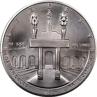1984 S US Mint Olympic BU Commemorative Silver Dollar $1 Choice Brilliant Uncirculated