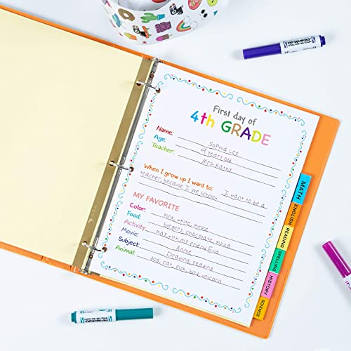 Avery 8-Tab Binder Dividers for School, Medical Office Supply, or Home Organization, Insertable Multicolor Big Tabs, ...