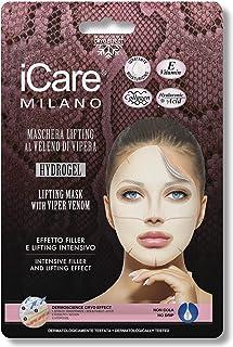iCare Maschera Viso effetto Filler e Lifting Intensivo al Veleno di Vipera - Tessuto, Hydrogel, con Acido Ialuronico, Coll...