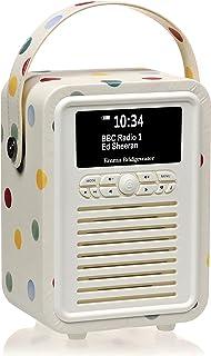 VQ Retro Mini DAB+ Digital Radio with AM/FM, Bluetooth & Alarm Clock – Emma Bridgewater Polka Dot