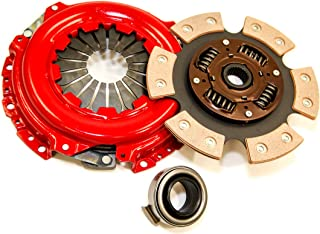 Yonaka Compatible with Honda/Acura B-Series 6 Puck Stage 3 Performance Heavy Duty Clutch Kit Set Ceramic Disc B16 B18 B20