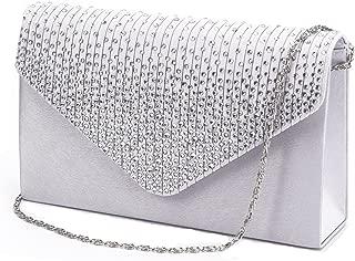 Women Evening Envelope Handbag Party Bridal Clutch Purse...