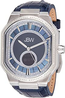 JBW Mens Quartz Watch, Analog Display and Leather Strap