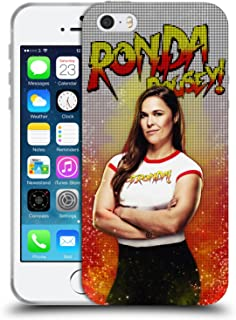 Official WWE LED Image Ronda Rousey Soft Gel Case Compatible for iPhone 5 iPhone 5s iPhone SE