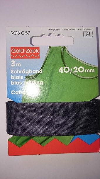 Qualitäts Schrägband 100/% Baumwolle 40//20 mm 30m