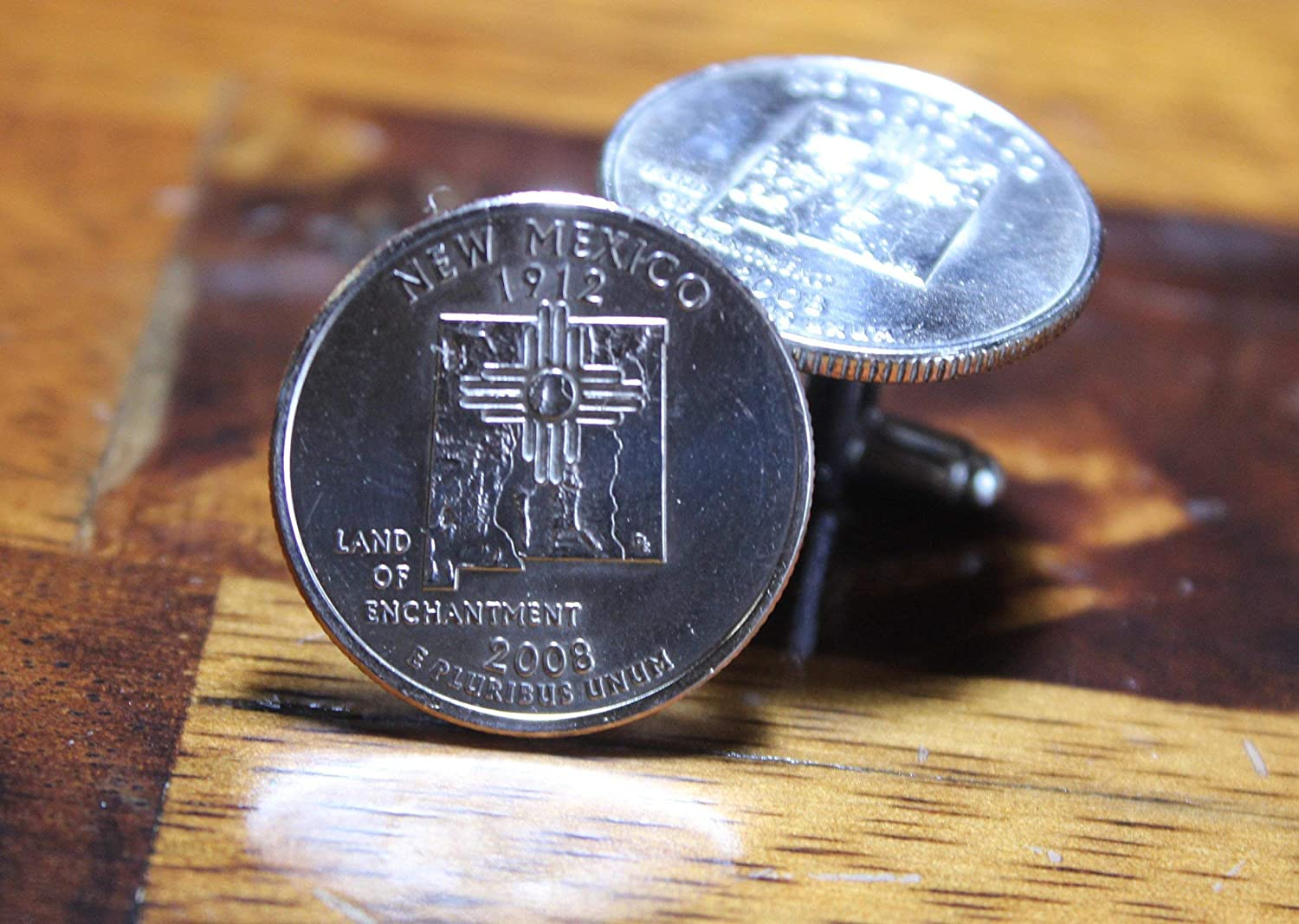 New Mexico Super beauty product restock quality top Cuff Special price Links Handmade Sante Quarter Cufflinks State F