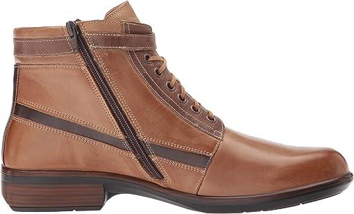 Vintage Camel Leather/Saddle Brown Leather/Seal Brown Suede