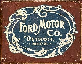 Desperate Enterprises Ford Motor Co. Historic Logo Tin Sign, 12.5