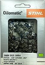 STIHL 26RM3-84 Oilomatic Rapid Micro 3 Saw Chain 3689 005 0084, 20