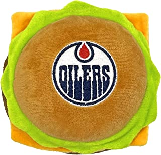 NHL Edmonton Oilers Cheese Burger Plush Dog & CAT Squeak Toy - Cutest Stadium HAMBERGER Snack Plush Toy for Dogs & Cats wi...