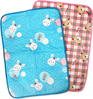 NioBit Baby Portable Changing Pad Comes in a Pack of 2 Waterproof Diaper Change Mats, 27x20 Inches Large, Cute Design for Girls and Boys