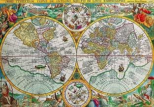 Wooden Jigsaw Puzzle - Antique World Map, 1594-555 Unique Wooden Pieces by Nautilus Puzzles