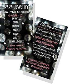 Jewelry Cleaning and Care Cards   Package of 50   Bling Silver Diamonds   Jewelry Bling Queen Care Instructions