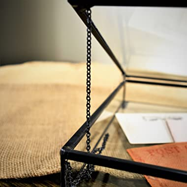 "J Devlin Box 749 Clear Glass Box Keepsake Display Case Storage Home Decor 10"" X 10"" X 1.5"""