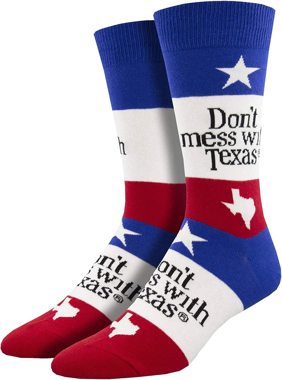 Socksmith Men's Don't Mess With Texas