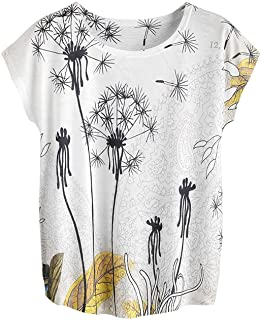 Milumia Women's Boho Print Tee Short Sleeve Summer Casual Blouse Top