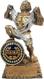 Decade Awards Poker Monster Trophy - Triumphant Beast Poker Winner Award - 6.75 Inch Tall - Customize Now