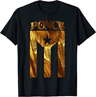 Puerto Rican Ponce Camisa De Puerto Rico Gold Flag Shirt