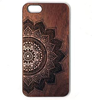 iPhone 6 Plus Case, Phone 6s Plus Case, BTHEONE [Wooden][Shockproof][Drop Protection][Heavy Duty] Dual Layer Slim Hybrid Wood Case Cover For Apple iPhone 6 / 6s PLUS 5.5 inch (Rose-flower-2)