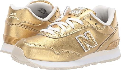 Gold Metallic/White