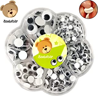 Bastelbär Googly Eyes Self adhesive Box of 600 - Wiggle Eyes in different sizes