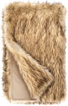 Donna Salyers' Fabulous-Furs Limited Edition Taupe Fox Faux Fur Throws (60x60 in) (Taupe Fox)